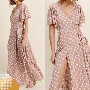 Kimono PolkaDot Maxi Dress